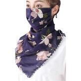 Donne Sun UV Protezione Collo Scaldacollo Sciarpe moto da equitazione all'aperto Sciarpe bandana Copricapo multifunzionale