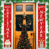 Merry Christmas Porch Sign Door Banner Home Hanging Christmas Ornaments Decor
