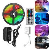 5M RGB 5050 Su Geçirmez LED Şerit Işık SMD, 44 Anahtar Uzakdan Kumanda Denetleyici ile