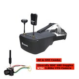 Everyine EV800D 5 بوصة800 * 480 FPV Goggles + TX06 NTSC 700TVL Mini FPV VTX-Camera All in ONE Combo