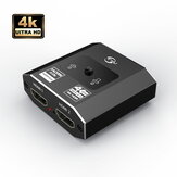 FSU HDMI One Point Two Switcher Split Screen Adapter Two In One Out Two-way Conversion Splitter para TV Monitor de Computador
