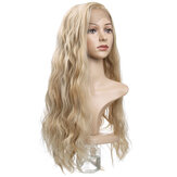 Charming Fluffy Curly Hair Wig High-Temperature Fiber Natural Long Hair Full Wigs Flaxen