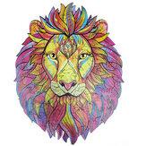 A3 / A4/A5 Quebra-cabeça de Leão de Desenho em Madeira Colorful Brinquedos Misteriosos Encantadores de Educação Infantil Presentes para Crianças Adultos Crianças