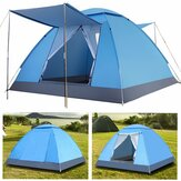 3-4 Person Automatic Camping Tent Portable Waterproof Sunshade Canopy Beach Travel with Moisture-proof Mat
