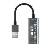 4K 1080P HD HD MI a USB 2.0 con cable Portátil HD MI Tarjeta de captura de grabación de video Juego Transmisión en vivo Cámara Captura de video Caja