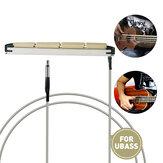 NAOMI 10 Uds bajo Ukelele piezo con cable trenzado Alambre ABS varilla de recogida para 4 cuerdas Ubass guitarra uso Diy