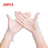 MIANDASHI 20*Pcs Disposable PVC BBQ Gloves Waterproof Anti-infection Safety Gloves
