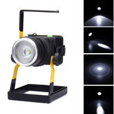 30W 2400LM T6 LED Zoom Flood Light Rechargeable Miner Project Lamp Camping Emergency Lantern