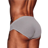 Mens Solid Color Underwear Cozy cintura baixa Briefs
