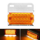 1PC 24V 15 LED Posição da luz do marcador lateral traseiro Lâmpada do solo Caminhão Trailer Caravana Van