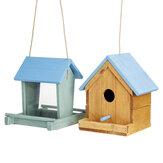 En bois petit oiseau perroquet reproduction nid boîte nidification maison de Cage Maison