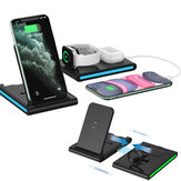 Bakeey 4 em 1 15W Magnetic Foldable Wireless Charger Stand Pad para iPhone 12 11 XR X 8 para Apple Watch para AirPods 2 para Samsung Galaxy Note S20 ultra Huawei Mate40 OnePlus 8 Pro
