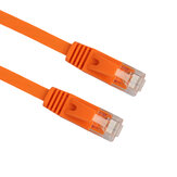 REXLIS CAT6 Ethernet Patch Internet Cable RJ45 Network Cable Patch Cord for Internet Router Orange