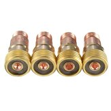 Brass Collets Stubby Gas Lens Connector With Mesh For Tig WP-17/18/26 Torch