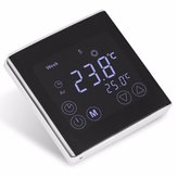 Weekly Programmable Underfloor Heating Thermostat LCD Touch Screen Room  Digital Thermometer Thermostat White Backlight