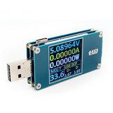 USBTesterWiderstandSpannungStromLeistung Energiemessung Batterie Kapazitätsanzeige Type-C Farbdisplay