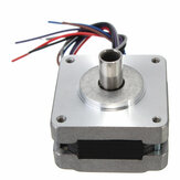 2Pcs 39MM Hollow Shaft Hybrids Stepper Motor 4 Phase 5 Wire Square 1.8 Degrees Stepper Motor