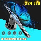 224 LEDs 3D WiFi Holografik Projektör Ekran Hologram Fan Reklam Fotoğrafları