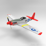 Volantex RC 768-1 Mustang P-51D 750mm Lebar Sayap EPO Warbird RC Airplane RTF