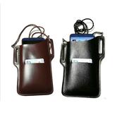Tampa do carro do telefone móvel universal de couro PU portátil Bolsa Pacote de armazenamento de ombro à prova d'água ao ar livre na cintura