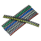 100 Pcs 5 Warna 20 Setiap 1206 LED Diode Assortment SMD LED Diode Kit Hijau / MERAH / Putih / Biru / Kuning