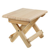 Foldable Solid Wood Stool Portable Outdoor Folding Chair Adult Small Chair Folding Bench For Outdoor Camping Fishing