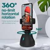 Smartphone Gimbal 360 Degree Rotation Auto Tracking Shooting Holder Selfie Vlog Live Streaming Broadcaset Mount Accessories Support Bluetooth Compatible with All Apple and Android Phone