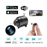 IP di sicurezza fotografica 1080P Visione notturna a 160 gradi Registrazione audio Wireless WIFI Mini fotografica Google Play