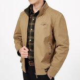 MensBigSizeDoubleWearStand Collar На открытом воздухе Куртка из хлопка