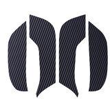 4pcs portas de carro de fibra de carbono almofadas anti-chute cobrir adesivos para tesla modelo 3