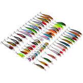 ZANLURE Lot 56 Mixed Minnow Angelköder Bass Köder Crankbaits Sharp Haken Angelgerät Satz