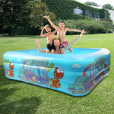 120/130/150cm Children Swimming Pool Bathing Tub Baby Toddler Paddling Inflatable Swimming Pool Kids