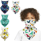 Kids Scarf Face Mask Neck Gaiter Balaclava Bandana Ice Silk Cooling UV Protection Dustproof Windproof for Children Headwear