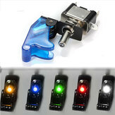 Carro SPST Toggle Rocker Switch Control LED Luz indicadora 12V 20A On Off Switch com tampa