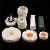 8pcs kit de polissage dôme Gobelet cylindre mop buffing compound roue polish métal outils de polissage