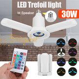 30W LED Trefoil Light pieghevole Bluetooth musica lampada con controllo remoto