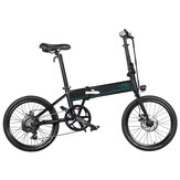 [UK-ba szállítva] FIIDO D4s 10.4Ah 36V 250W 20 hüvelykes összecsukható moped kerékpár 25km / h maximális sebesség 80km futásteljesítményű elektromos kerékpár