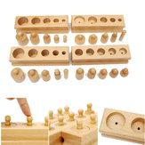 Knobbed Cylinder Blocks Zestaw rodzinny Drewniana zabawka edukacyjna Montessori