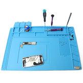 DANIU 45x30 cm Almofada Escrivaninha Esteira Magnética Isolamento Térmico Silicone Plataforma de Manutenção com Seção Magnética