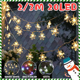 2M 3M LED Sneeuwvlok Fairy String Light Indoor Home Party Kerstboomdecoratie Lamp