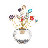 10cm 3D Crystal Apple Model Glass Craft Table Top Home Ornaments Decoration