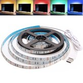 2M Waterproof USB SMD3528 TV Latar Belakang Komputer LED Strip Tape Fleksibel Cahaya DC5V