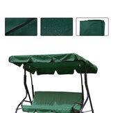 2/3 Μέγεθος καθίσματος Πράσινο UV-Proof Εξωτερικός κήπος Patio Swing Sunshade Cover Αδιάβροχο κάλυμμα καθίσματος