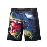 S5251 Пляжный Шорты Шорты для досок 3D Смешные динозавры Печать Быстрая сушка Водонепроницаемы