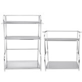 2/3 Tier Rack Stainless Steel Kitchen Storage Shelf Silver Pantry Cookware Spice Shelf Bottle Stand with Hanging Hooks