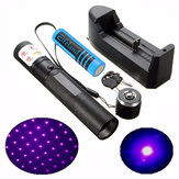 XANES PL04 303 405nm Purple Light Laser Pointer Suit Set+ 18650 Battery + Charger
