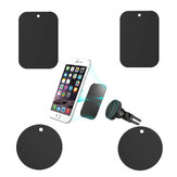 Bakeey™ 4PCS Replacement Powerful Sticky Ultra Thin Metal Plate Car Magnetic Phone Holder Accessory