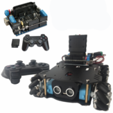 4WD Smart Car Chassis Satz mit Motortreiber UNO Development Board und PS2 Wireless Controller