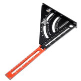 6 Inch Extendable Multifunctional Folding Triangle Ruler Carpenter Square with Base Precision Goniometer Multi-angle Measurement Woodworking Tools