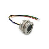 R503 Capacitieve vingerafdrukmodule Sensor Scanner Circulair Rond Tweekleurige ringindicator LED-besturing DC3.3V MX1.0-6pin